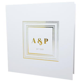 Royal white with gold foil wedding invite homepage