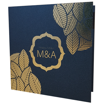 majestic king blue wedding invite with gold foil homepage