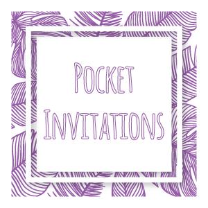 pocket invitations