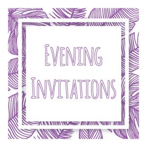 evening wedding invitations category